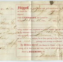 Image of Bill of lading: iron ore from Sterling Iron & Railway Co. shipped on barge William Murtagh to Morris & Essex R.R., Hoboken, Oct. 8, 1867; shipment to Roberts Iron Co., Allentown, Pa. - Bill of Lading