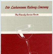 Image of Menu: Erie Lackawanna Railway Co., Wine List. Issued Hoboken, Aug. 1969. - Menu