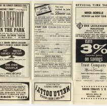 Image of Timetable: Erie Lackawanna Railroad, between Dover-Denville, Newark & New York (Hoboken), Eff. Apr. 25, 1965. - Timetable