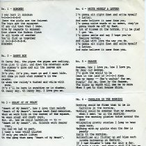 Image of pg [1] lyrics to songs 1 to 6 (typical leaf)