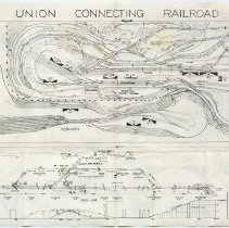 Image of side 2 Union Connecting Railroad layout, NYSME, 1956