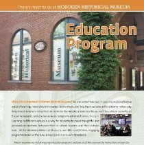 Image of Brochure: Education Programs. Hoboken Historical Museum, Hoboken, N.J. (Spring 2014) - Brochure