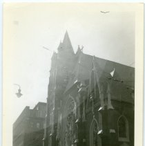 Image of B+W photo of Our Lady of Grace Church, Willow Ave. at 4th St., Hoboken, n.d., 1940-1950. - Print, photographic