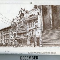 Image of artwork for December: Hoboken, The Gayety Theatre. 1009-1003 Washington St.