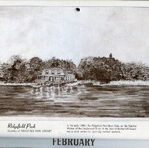 Image of artwork for February: Ridgefield Park Boat Club, Hackensack River