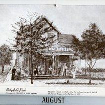 Image of artwork for August: Ridgefield Park,  Merglers' Corner, 1895