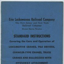 Image of Manual: Erie Lackawanna R.R.; Standard Instructions: Locomotive Cranes, Pile Drivers....; Eff. Jan. 1, 1965. - Manual, Employee
