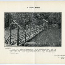 Image of pg [9] Plate VIII; A Rustic Fence