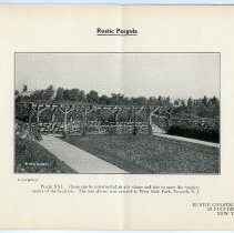 Image of pg [11] Plate XVI; Rustic Pergola