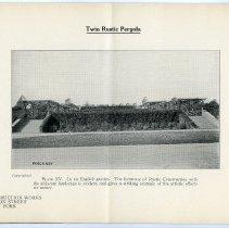Image of pg [12] Plate XV; Twin Rustic Pergola