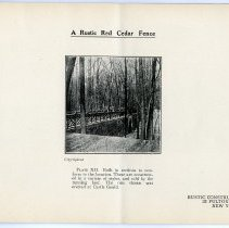 Image of pg [15] Plate XII; A Rustic Red Cedar Fence