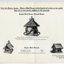 Image of pg [17] catalog with prices: Bird House/Houses