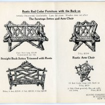 Image of pg [19] catalog: Saratoga Settee, Arm Chair; Straight Back Settee w/  Roots