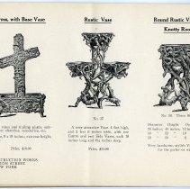 Image of pg [22] catalog: Cross with Base Vase; Vase; Round Vase of Knotty Roots