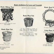 Image of pg [24] catalog: Rustic Jardinieres: Oblong Vase; Bowl Vase, Plant Tub