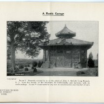 Image of pg [2]  Plate I; A Rustic Garage; on estate of John A. McCall, Long Branch