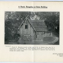 Image of pg [3] Plate II; A Rustic Bungalow or Outer Building