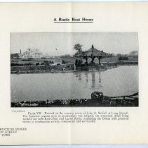 Image of pg [8] Plate VII; A Rustic Boat House