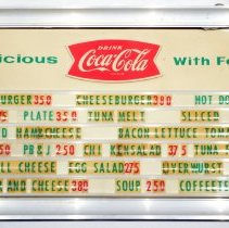 Image of Menu board from Schnackenberg's Luncheonette, 1110 Washington St., Hoboken, ca. 1958 to 2012.