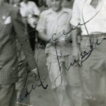 Image of detail Sinatra inscription and signature