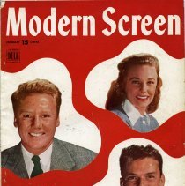 Image of Modern Screen, January 1945: front cover Sinatra, Van Johnson, June Allyson