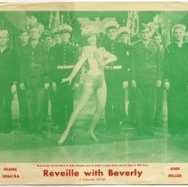 Image of Lobby card: Reveille With Beverly. Names: Frank Sinatra; Ann Miller (seen).
