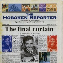 Image of Newspaper article: The Final Curtain. City mourns Sinatra, dead at 82. 