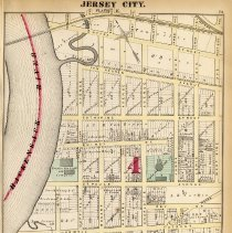 Image of 21 Hopkins 1873 Jersey City Plate K Pg 73