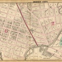 Image of 23 Hopkins 1873 Jersey City Plate M Pp 80-81