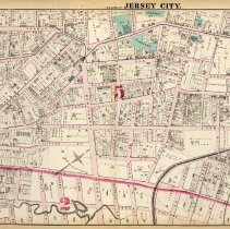 Image of 26 Hopkins 1873 Jersey City Plate P Pp 90-91
