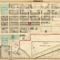 Image of 34 Hopkins 1873 Hoboken Plate D - Jersey City Sub-plan Pp 116-117