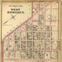 Image of 36 Hopkins 1873 West Hoboken (Union City) Plate A Southern Part Pg 123