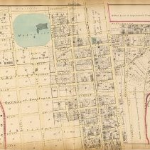 Image of 37 Hopkins 1873 West Hoboken (Union City) Plate B Centre Part Pp 126-127