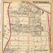 Image of 38 Hopkins 1872 West Hoboken (Union City)  Plate C Northern Part Pg 129