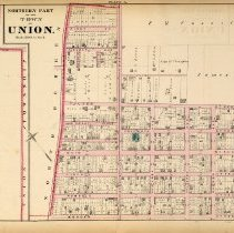 Image of 39 Hopkins 1873 Town Of Union (union City) Plate A Northern Part Pp 132-133
