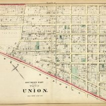 Image of 40 Hopkins 1873 Town Of Union (union City)  Plate B Southern Part Pp 136-13