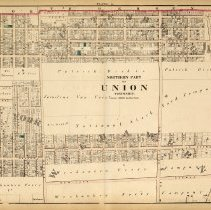 Image of 41 Hopkins 1873 Union Township (W. New York+Guttenberg) Plate A Pp 140-141