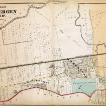 Image of 45 Hopkins 1873 North Bergen Township Plate A Pp 154-155