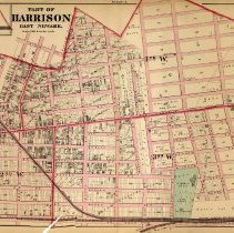 Image of 48 Hopkins 1873 Harrison - East Newark Plate A Pp 162-163