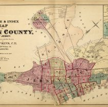 Image of 10 Hopkins 1873 Hudson County Index Map Pp 30-31
