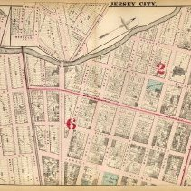 Image of 14 Hopkins 1873 Jersey City Plate D Pp 46-47