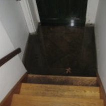Image of Color photos, 16, of water & damage from Hurricane Sandy, Hoboken, taken Oct. 30, 2012, by Hank Forrest.  - Photograph
