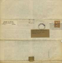 Image of back of page 4, mailing side with labels