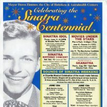 Image of Poster: Celebrating the Sinatra Centennial; events June 2015. - Poster