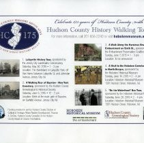 Image of handbill Hudson County Walking Tours