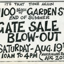 Image of Gate Sale 011. 08-19-1995  1100 Block Of Garden St.