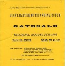 Image of Gate Sale 014. 08-05-1995 923 Garden St.