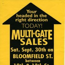 Image of Gate Sale 015. 09-30-1995 Bloomfield St. Between 12th + 13th Sts.