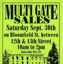 Image of Gate Sale 016. 09-30-1995 Bloomfield St. Between 12th + 13th Sts.