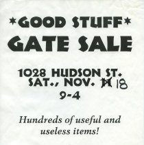 Image of Gate Sale 017. 11-18-1995 1028 Hudson St.